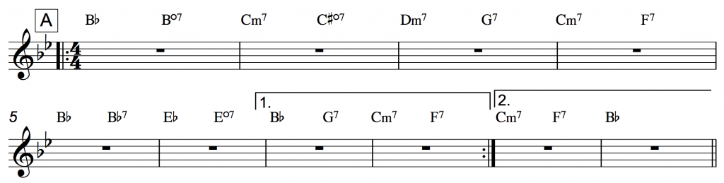 how to play rhythm changes
