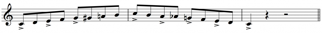 bebop scales