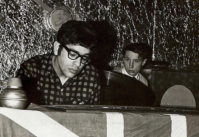Paul Abrahams at the tender age of 17 at the keyboard.